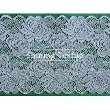 cheap nylon spandex colourful stretch lace and trim