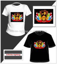 2014 Alibaba Express el advertisement t-shirt online shopping/EL Advertisement T-Shirt Panel
