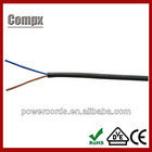 2x0.75mm2 H05VV-F PVC Insulated cable H05VV-F