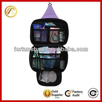 Trendy hanging toiletry travel bag organizer