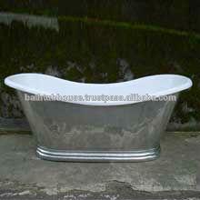 Copper Bathtub with white powder coating CB-019