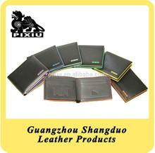 Hot Sale 2015 Reliable Quality Colorful Rim Leather Short Wallet Man