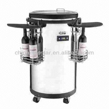 Commercial Round Barrel Electric Beverage Party Cooler ,outdoor portable can cooler fridge for beer bottle beverage can