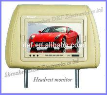 pillow headrest monitor with lcd screen AV1/AV2 Compitable multiple AV formats AV input headrest DVD monitor