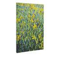 Pintados à mão flor de parede da arte da lona/lona de arte pinturas grupo