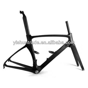 2014 YISHUNBIKE popular 52cm aero racing road frame BB86 NON-ISP system carbon road frame