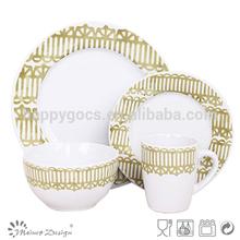 Popular round 16 piece Tableware Set supplier
