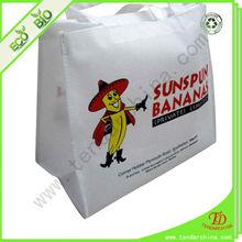 custom reusable bag made by non woven fabric with silk printing