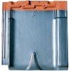 Japanese glazed clay roofing tile Flat type ( CERAM F2 Matte Silver Black color )