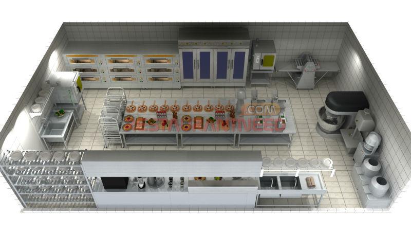 Profissionais De Design 3d Projeto Padaria Industrial Forno De Pizza Equipamentos De Assar Id