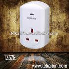 [TEKAIBIN] TZ67E Z-Wave smart plug socket white home Dimmer automation socket