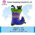 De colores de impresión de halloween decoración con globos