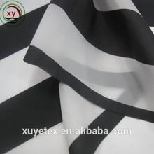 100% nylon fabric Black and white stripes printed sun protection fabric