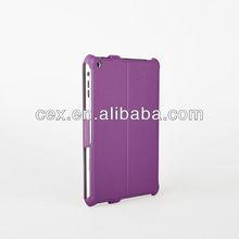 Purple Folio Stand PU Leather Case Cover for Apple iPad Mini