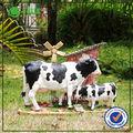 resina jardim decoração jardim animal vaca leiteira para venda