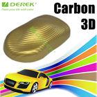 Derek 3d reusable static cling vinyl film auto carbon fiber car wrap