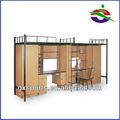 de alta shool dormotory estudiante camas literas con escritorio y un armario