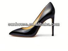 2015 Beautiful High Heel Sheep Leather Dress Pumps Shoes For Women