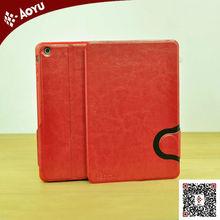 2014 new fashion leather case for ipad mini smart cover