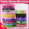 Custom debossed silicone bracelets / custom debossed silicone wristbands