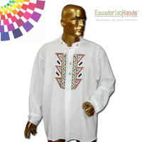 Ethnic clothing - Otavalo Shirt 3 Hand Embroidered 100% Cotton