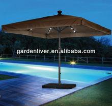 Outdoor high end led solar patio umbrella