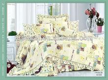 100% cotton nice printing elegent design bedding set/yellow duvet cover set