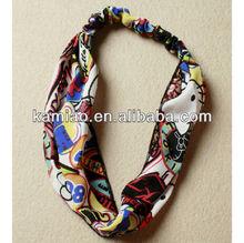 fashion floral hair accessories printing cotton hair wrap