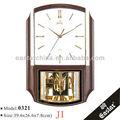 พลาสติกพีวีซีสายนาฬิกาลูกตุ้มนาฬิกาแขวน( วัสดุพลาสติกabsและ16เพลงชั่วโมงคล้องจอง)