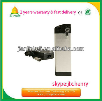 24v lithium battery 24v 12ah for electric bike,24v 12ah electric vehicle battery,with silvery fish box+charger+BMS