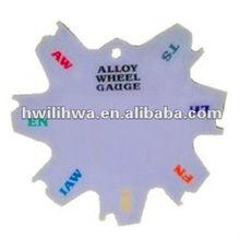 Alloy wheel weight diameter gauge repair tool