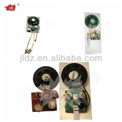 Promotional audio musical sound chips for greeting cards