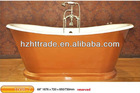 copper color quality freestanding cast iron bathtub for sale