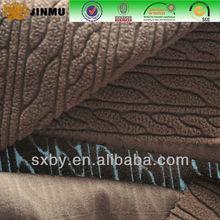 Geometric figure dyeing jacquard knitting polar fleece fabric