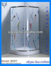 aluminum toughened glass shower standard european sanitary ware export import