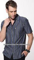 High Quality fashional Plaid short sleeve men's T-shirt clothing