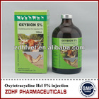 horse cattle injectable antibiotics 5% oxytetracycline injection