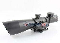 3-9x42EG Hunting Rifle Scope 3-9x 42mm Red Green Dot Illuminated Telescopic Sight Riflescope w/ Tactical Red Laser Scope Sight