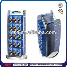 TSD-M264 neck pillow 4-sided display rack/spinning metal display rack for travel pillow/pillow floor rotating display rack