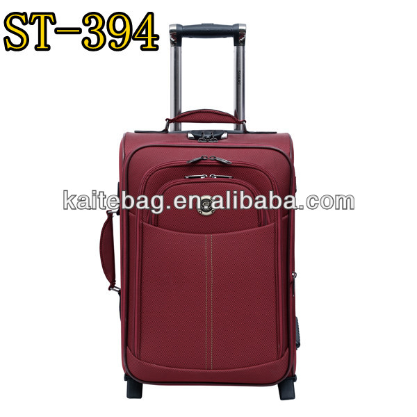 twill 2 tone fabric light weight 4 pcs fake button travel case luggage