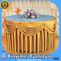 Durable Banquet Restaurant Round Table Cloth With Logo