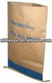Multi hy-c047 paredes de papel kraft cosido de la parte inferior de la boca abierta bolsa de ensilaje
