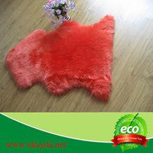 Dyed wool rug sheep skin