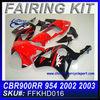 Aftermarket Motorcycle Fairings For HONDA CBR900RR 954 2002-2003 RED&BLACK RACE FFKHD016
