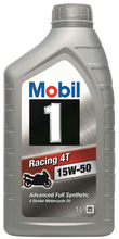 Mobil 1 Racing 4T 15W-50 - Advanced Multigrade Synthetic Four-Stroke Motorcycle Engine Oil