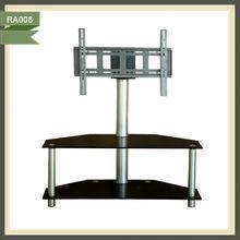 TV rack design wall mount glass tv shelf tv lift cabinet RA008