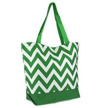 Fashion design chevron cotton tote bag chevron print totes bag