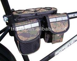 2015 good quality bicycle double rear pannier bag /tube bike bag/Tube Bicycle Bag