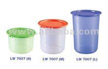 Maxonic FDA Standard Plastic Round Airtight Food Container