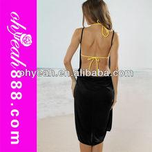 New beach dress open-back wrap front summer wear cover bikini up women swim wear